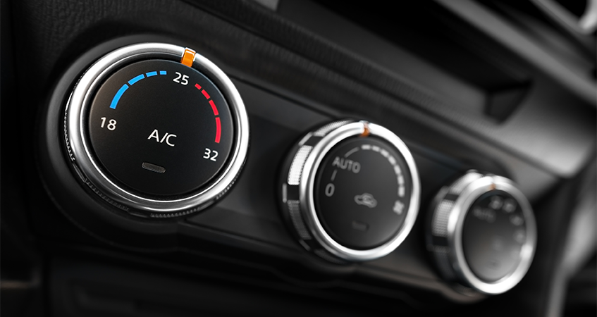 Air Conditioning controls in a car or van